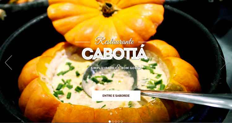Novo site | Restaurante Cabotiá - Coromandel
